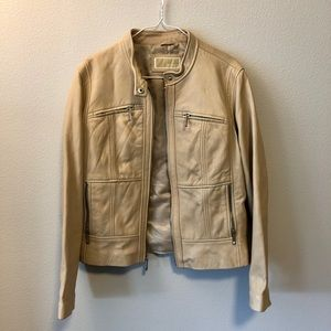 Soft, buttery leather Michael Kors Moto Jacket